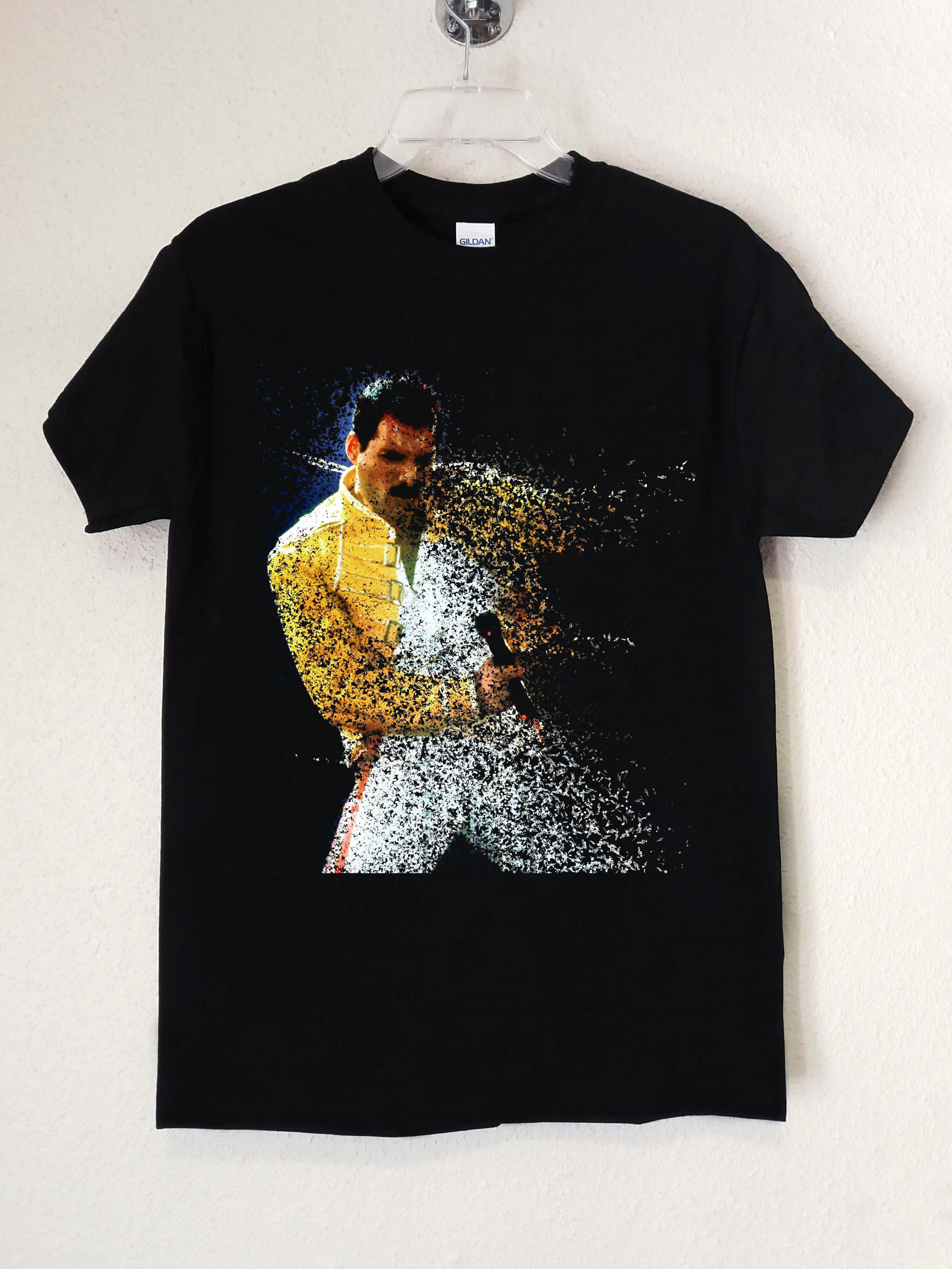 ae1fd68d62ff5 Queen Freddie Mercury Fade Out Polera Negra Hombre - Abominatron